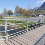 Hochwasserschutz-Geländer, verzinkt
