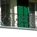 Balkongeländer, verzinkt und pulverbeschichtet Patina Moderna