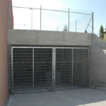Stahlgittertor mit Durchgreifschutz, verzinkt